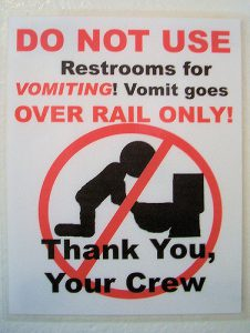 Do Not Vomit In Toilet On Boat