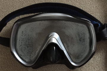 Fogged Dive Mask