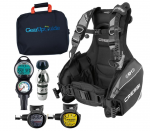 Cressi R1 BCD with Leonardo Dive Computer Console, AC2 Regulator and Octopus Package
