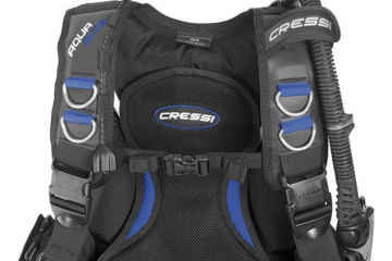 Cressi Aquaride Blue Pro BCD Top View