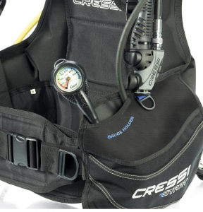 Cressi Integrated Pressure Gauge Compartment