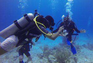 Diver Panicking