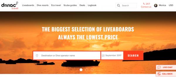 Diviac Scuba Dive Vacation Site