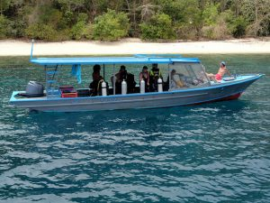 Small Dive Boat Bangka Indonesia