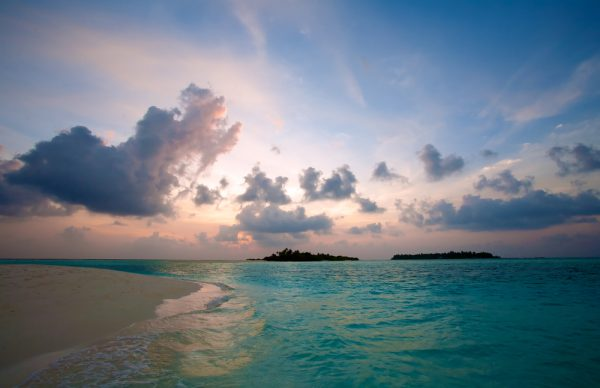 Maldives Moody Sunset Ari Atoll