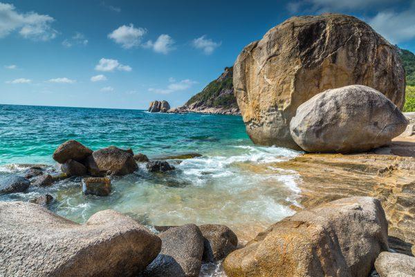 Thailand Koh Tao Rocky Beach View