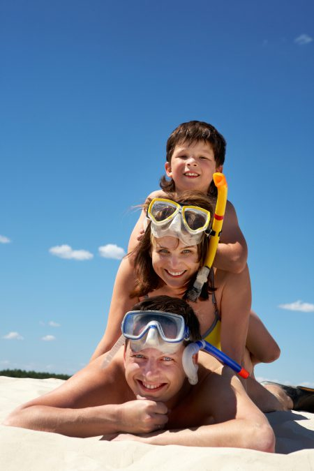 Family Of Divers and Snorkelers