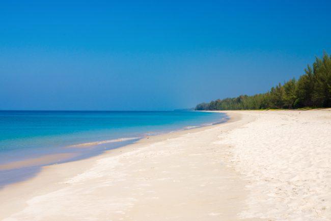 Sandy White Beach Andaman Sea