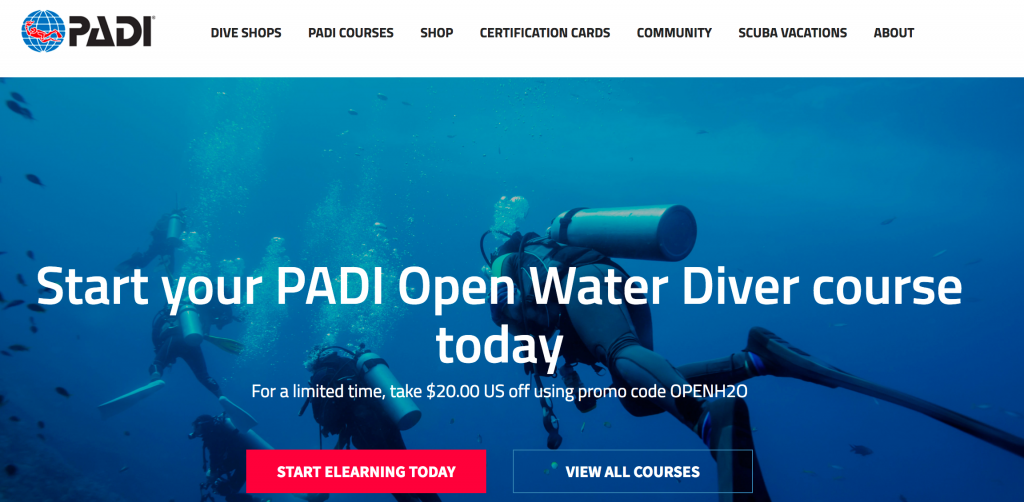 Padi Online Open Water Diver Course Scuba Diving eLearning ...
