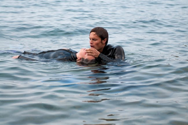 Rescue Diver Giving CPR