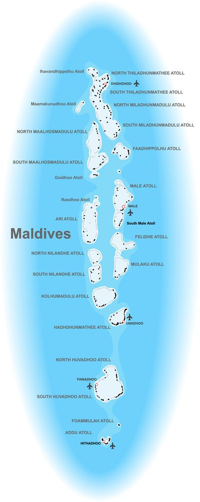 Maldives Dive Map