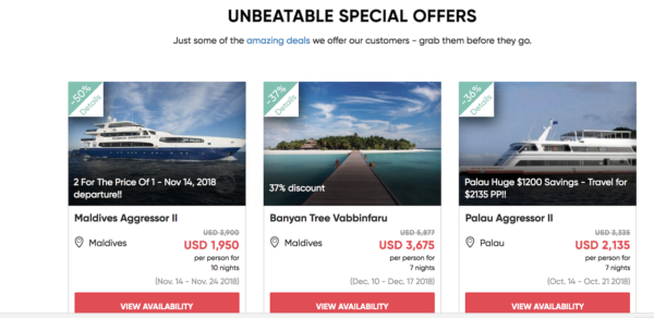 PADI Travel Special Offers That Are Unbeatable