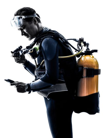 Diver With Scuba Gear On