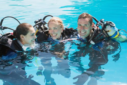 Divers With Friends